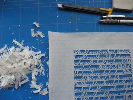 rijstpapier gebed handgesneden