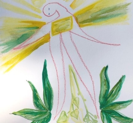 licht tekening paradijs